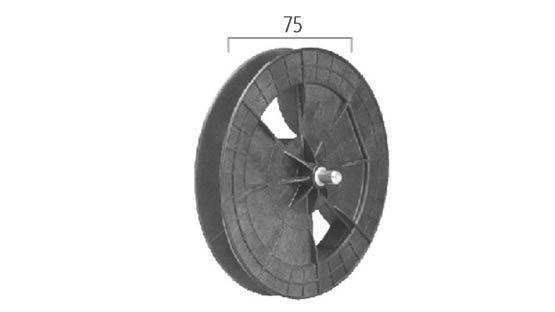 Puleggia in plastica PVC per rullo da Ø 60 perno esterno per tapparelle avvolgibili
