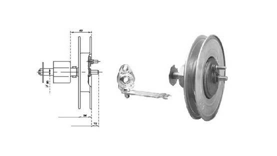 Riduttori con supporto Ø 220 e 240 mm per tapparelle avvolgibili