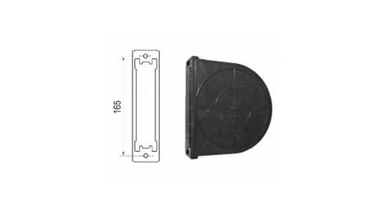 Cassetta in plastica per avvolgitore da 165 per tapparelle avvolgibili