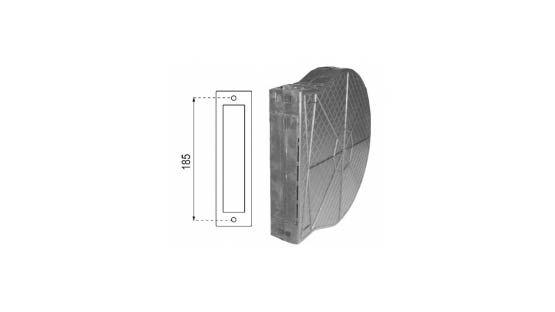 Cassetta in plastica per avvolgitore da 185 per tapparelle avvolgibili