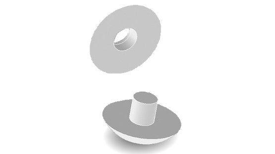 Bottoni antivento per zanzariera tipo Extra di colore bianco