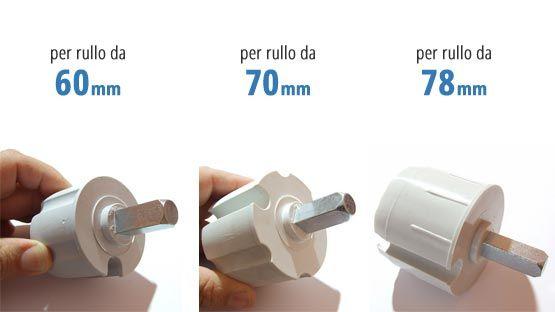 Calotta tende da sole con perno da 13 mm per rullo da 60, 70 e 78mm