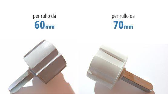 Calotta tende da sole con perno lungo diametro 13 mm per rullo da 60 mm e da 70 mm