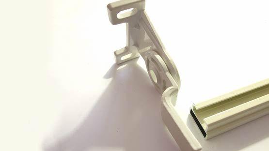Staffa per soffitto o parete in alluminio senza perno per tenda Giardino Mini
