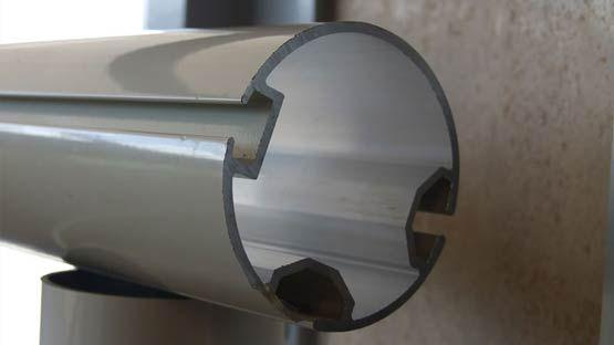 Terminale in alluminio pesante per tenda giardino Corfù-Mini