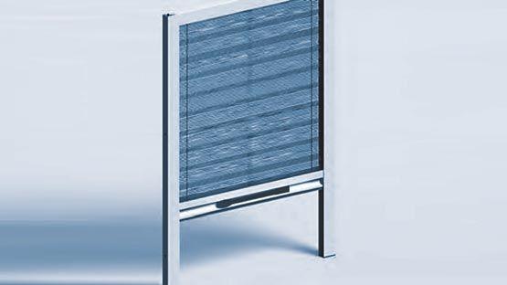 Zanzariera plissettata per finestre a scorrimento verticale per spazi ridotti