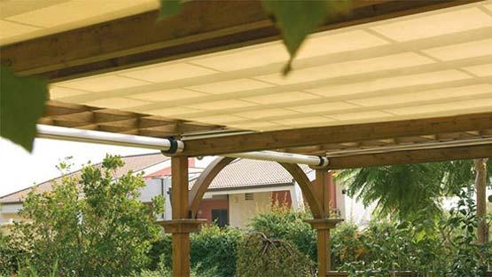 Tenda da sole orizzontale con cassonetto per patii, verande, gazebo e terrazze