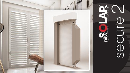 Tapparella avvolgibile frangisole di sicurezza con serratura integrata New Solar Secure 2