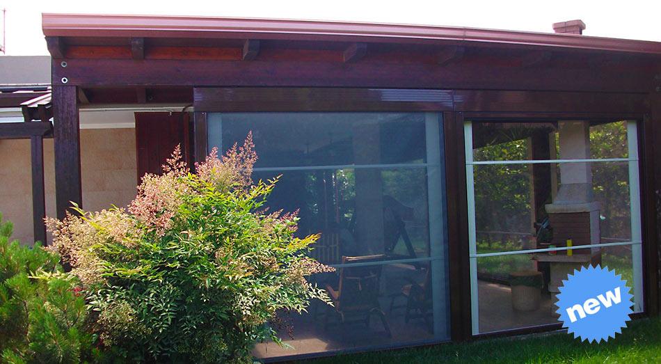 Tenda veranda Cristal modello antivento