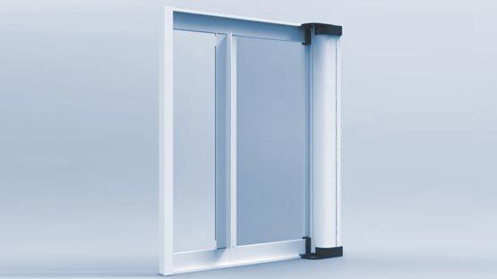 Zanzariera laterale con frizione e cassonetto da mm. 55 per porte finestre economica