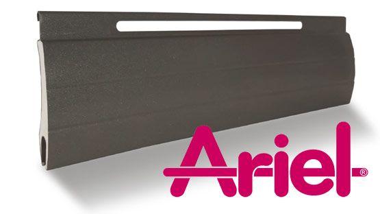Tapparella Ariel in alluminio coibentato ad altà e bassa densità e stabilità ad asola larga