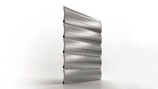 Tapparella avvolgibile di sicurezza in acciaio coibentato