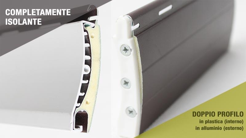 Tapparella avvolgibile Duero a 2 lati in plastica pvc e alluminio a risparmio energetico