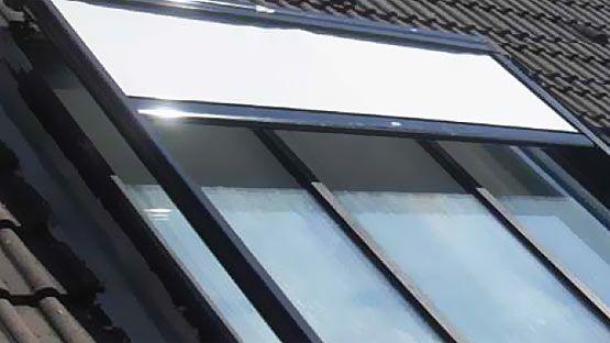 Tenda da sole singola per coperture in vetro, lucernai e pergolati