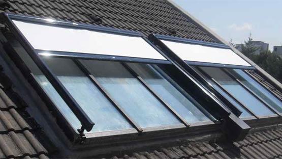 Tenda da sole accoppiata per tetti in vetro, lucernai e pergolati