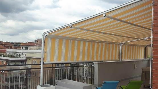 Tenda da sole per verande, cortili ed attici di piccole dimensioni