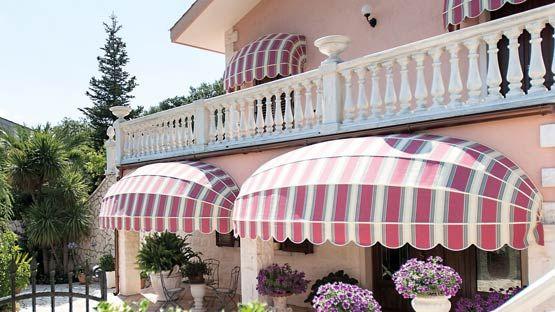 Tenda da sole Cappottina ad arco ribassato con settore semicircolare